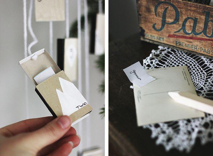 DIY Post Card & Matchbox Advent Calendar @The Merrythought
