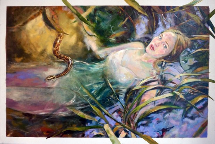 EKAV-ARTIST New Generation 4 sergisi: DİLARA MATARACI - Gökyüzünde ve Ormanda Tuval üzerine yağlıboya, 60x90cm, 2018