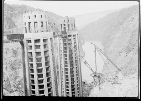 Hoover Dam under construction, May 1935