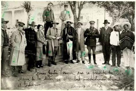 Encuentro entre el Gral. Lázaro Cárdenas y el General cristero Simón Cortés Vieyra en 1929 en Santa María de los Altos.