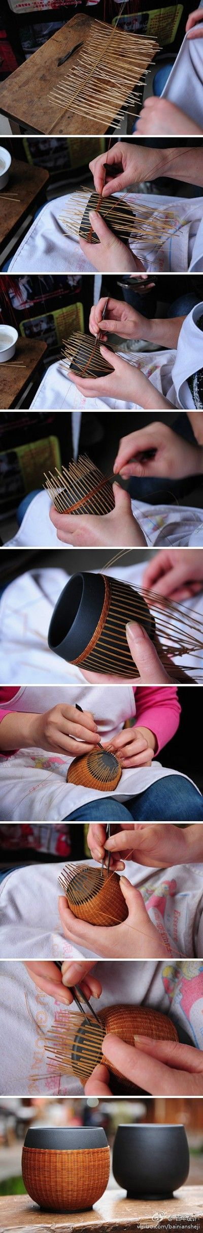 Bamboo tea cup cover
