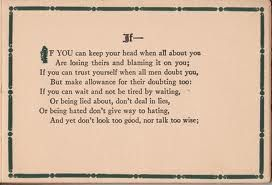R. Kipling (NYS reading for 6th graders to be compared to Bud, Not Buddy, and a graduation speech by Steve Jobs.)