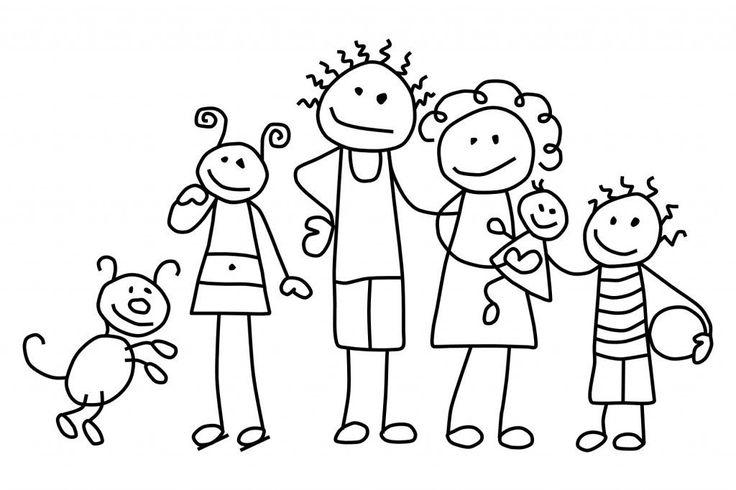 color familie  kostenlos ausmalbilder  kostenlos