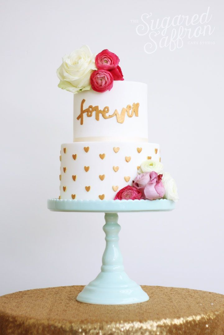 10 Original Wedding Cakes by The Sugared Saffron Cake Studio - Mon Cheri Bridals