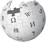 The Wikipedia logo, Wikipedia is a type of social media called a collaborative project where everyone can make and change stuff