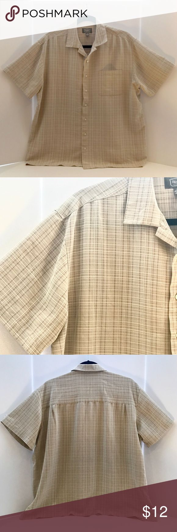 Foundry short sleeve button down Foundry short sleeve casual button down, very light weight and great for summer! Shirt can also been used for business on those hot days! Foundry Shirts Casual Button Down Shirts