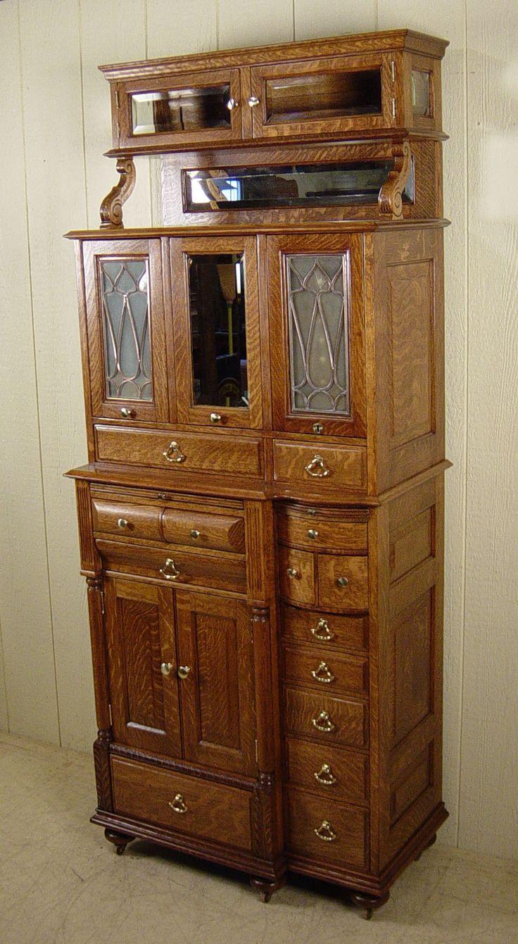 American Cabinet Co. Oak Dental Cabinet #55