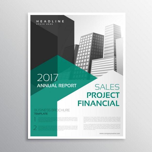 brochure d'affaires propre rapport annuel modèle Vecteur gratuit