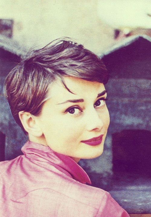Audrey Hepburn pixie hair, just because she is so stinkin cute!