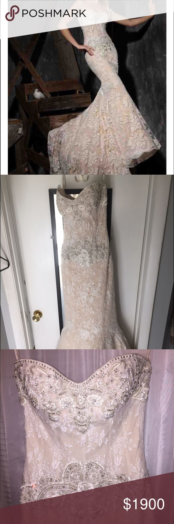 Selling this Wedding gown on Poshmark! My username is: brittster52. #shopmycloset #poshmark #fashion #shopping #style #forsale #victor harper  #Dresses & Skirts