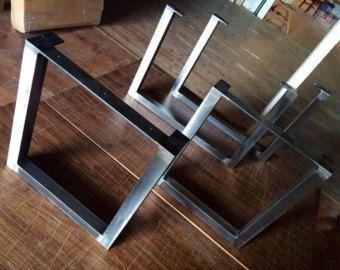 Brushed Square Metal Legs-Table Legs-Steel Legs-Dining Legs