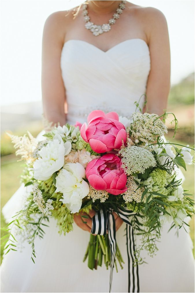 Welcome To Southern California Bride A Nautical Wedding Inspiration Shoot Pink BouquetWhite