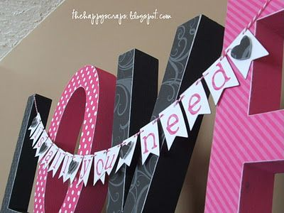 LOVE letters: Pink And Black Wood Letters, Happy Scrap, Wood Signs, Love Is, Valentines Day, Valentines Inspiration, Wood Connection, Diy Projects, Love Letters