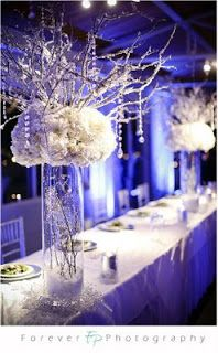 periwinkle, gold, wedding | Fabulously Wedded: Periwinkle with Black & White Wedding