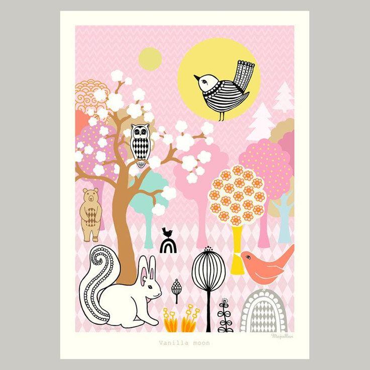 Majvillan ~ Vanilla Moon poster 50x70 cm - SovrumsShoppen.se