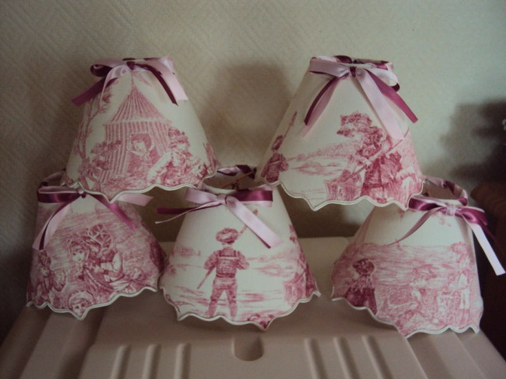 toile lampshades