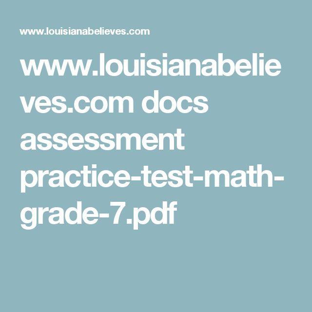 9 best g7 math end of year tests images on pinterest maths math louisianabelieves docs assessment practice test math grade 7 fandeluxe Choice Image