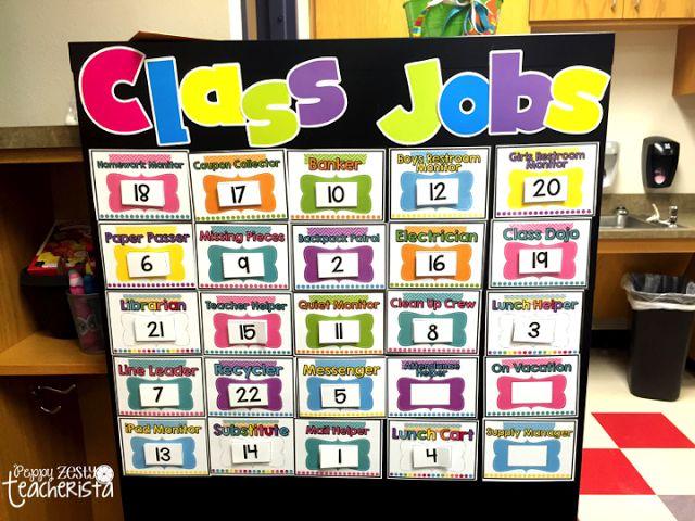 Classroom Job Ideas Elementary ~ Classroom reveal class jobs and