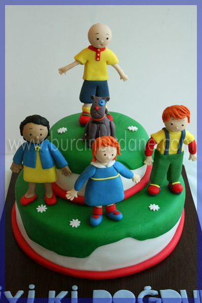 Caillou cake toppers