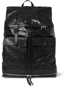 Balenciaga Traveller Creased-Leather Backpack on shopstyle.com