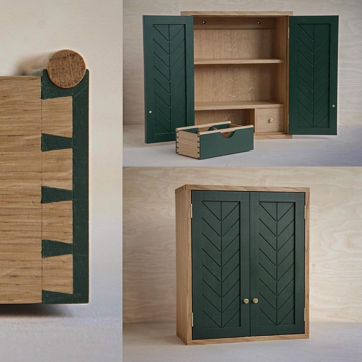 Made this small wall cabinet. The idea was to make a cabinet for tea. The basket is for serving different flavors of tea when you have guests. The pattern in the door gives a hint of a leaf. The wood is oak.. #design #form #woodcarving #woodworking #handmade #hantverk #handgjort #interiordesign #kitchen #SlowLiving #woodworker #woodworkers #finewoodwork #craft #crafting #woodshop #tea #cabinet #Furniture