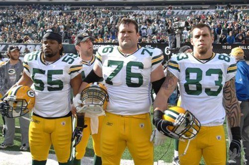 One of my favorite sites ever...rogersphotobomb.com - Aaron Rogers photobombing every Green Bay Packers captains picture