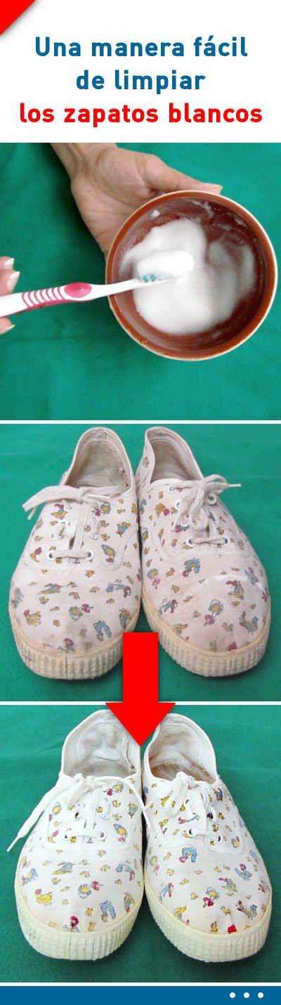 ¿Sabes una manera fácil de limpiar los zapatos blancos para que luzcan como nuevos? #limpiar #zapatos #blancos #consejos
