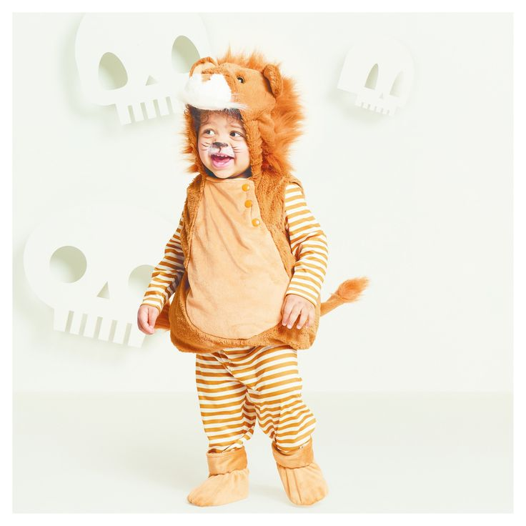 Halloween Baby Plush Lion Vest Costume - 6-12 Months - Hyde and Eek! Boutique, Infant Boy's, Brown White