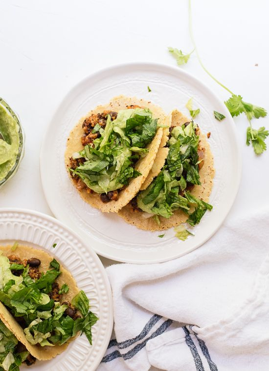 Quinoa Black Bean Tacos - Cookie and Kate