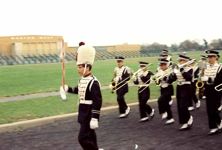 Morton East High School Cicero,IL 1969 . I marched in that band...you just can't quite see the flutes.