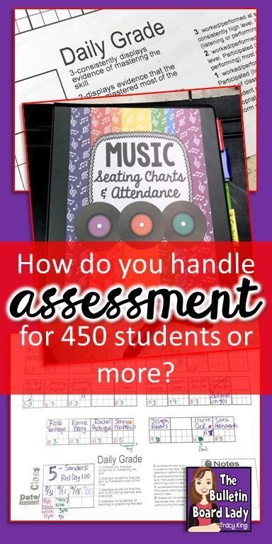 Music Assessments with Seating Charts Music Class - Assessment and
