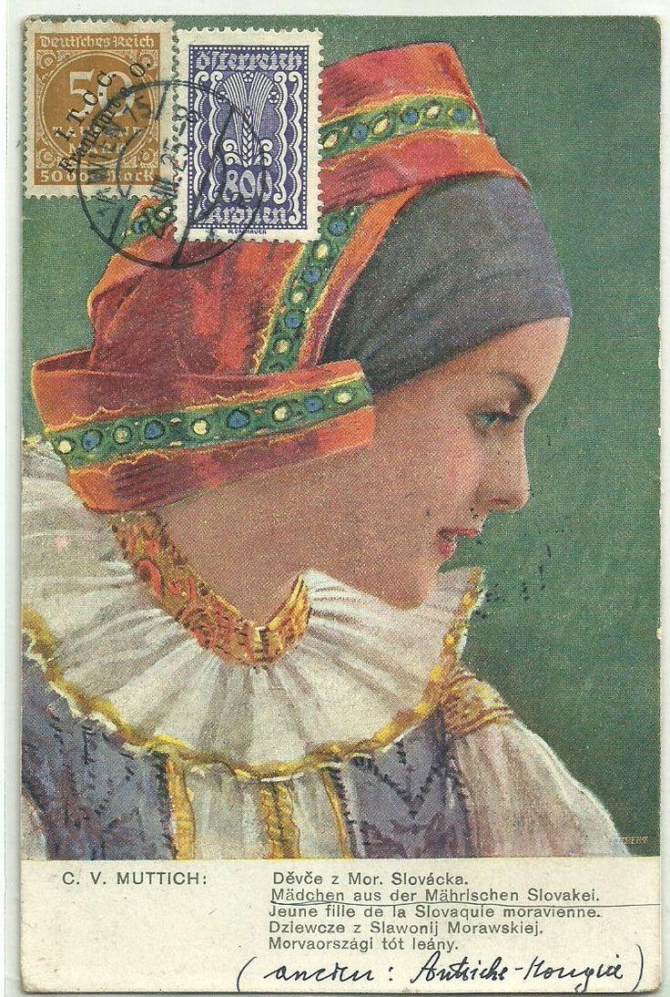 Jeune fille de la Slovaquie Moravienne. | eBay!