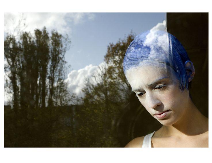 #haircut #creativehaircuts #haireducation  #hairbrained #hairmagazine #salon #saloneducation #haircolor #hairstyling #barbering #hair #menshair #hairdresser #hairstylist #gseducation #sassoon #bluesky #trees #nature #clouds #bluehair #shorthair #model #photography #hairtexture #hairinspiration