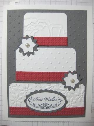 Beautiful wedding card!: Cards Scrapbooking Ideas, Stampin Up, Cardmaking, Cards Wedding, Anniversary Wedding Cards, Card Making, Card Ideas, Wedding Cake, Wedding Anniversary Cards