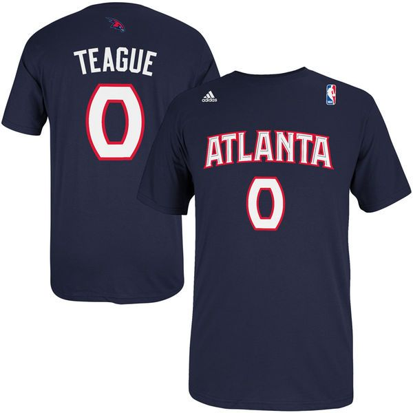 Jeff Teague Atlanta Hawks adidas Net Number T-Shirt - Navy Blue - $20.99