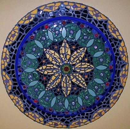 Mosaic Mandala by Cynthia Axelberd  www.cynthiaaxelberd.blogspot.com