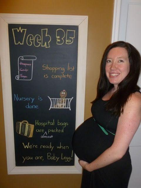 Week 35 Chalkboard Maternity Timeline