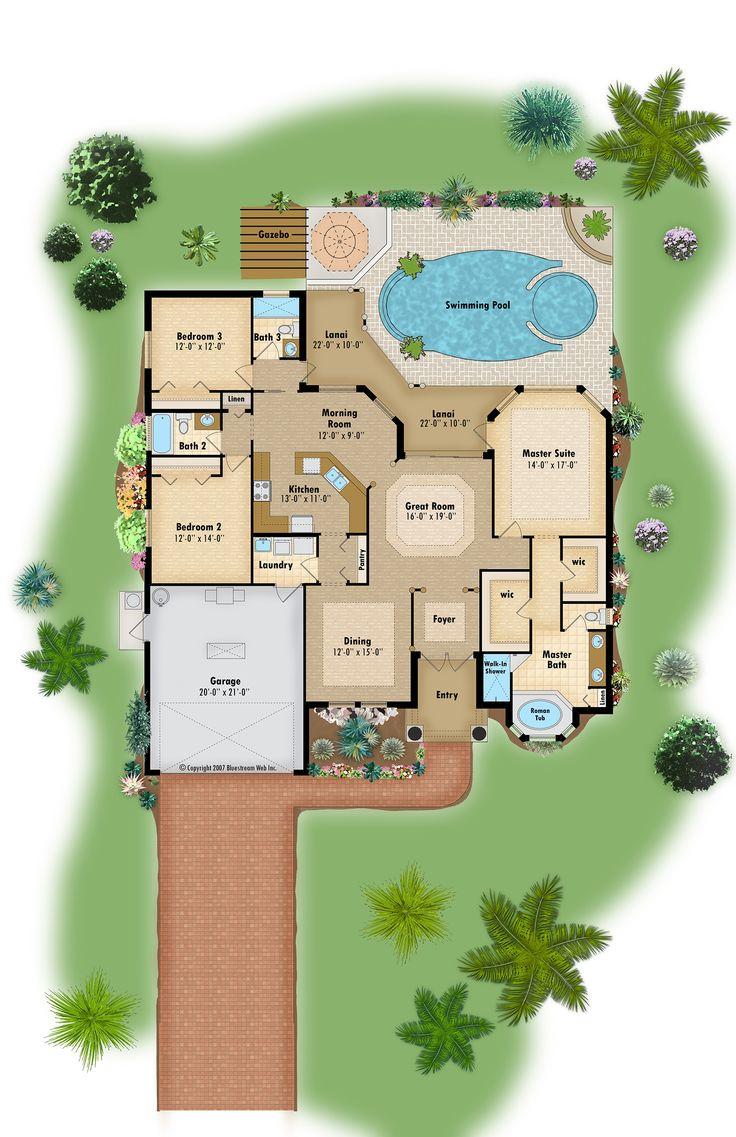 9 best color floor plans images on pinterest floor plans for Floor plan open source