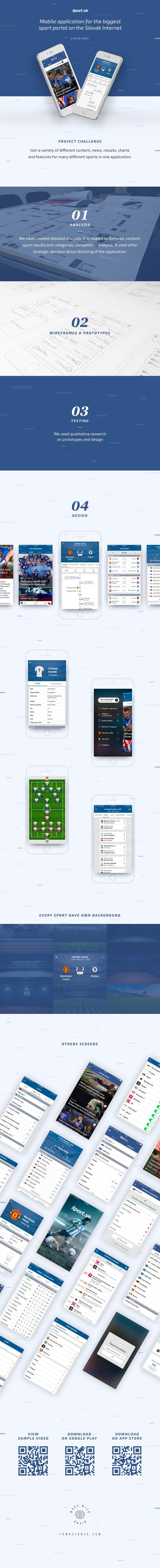 Mobile application for the biggest sport portal on the Slovak Internet. Designer: Tomas Janek