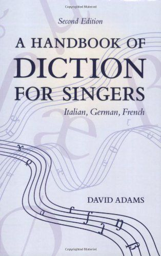80 best german lieder images on pinterest german classical a handbook of diction for singers italian german french by david adams fandeluxe Images