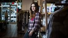 Shop owner Heather Huntingford built all the display furniture and the change rooms at her Kiss and Makeup in Vancouver, much of it from reclaimed wood. (Ben Nelms for The Globe and Mail)