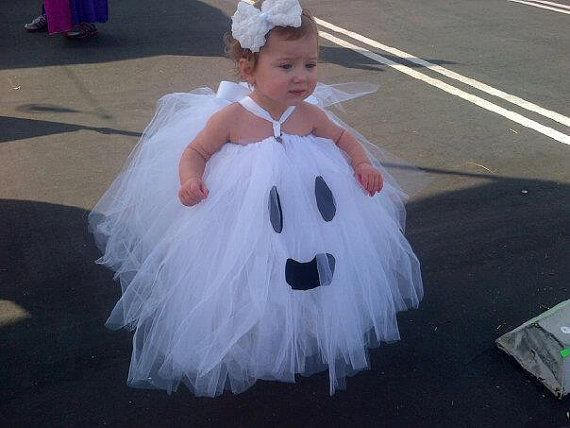 PRE-ORDER 25% off Sale 30.00.....Ghost Tutu Dress-Ghost Tutu Costume-Halloween Ghost Tutu-Baby Costume-Toddler Costume-Girl Costume-