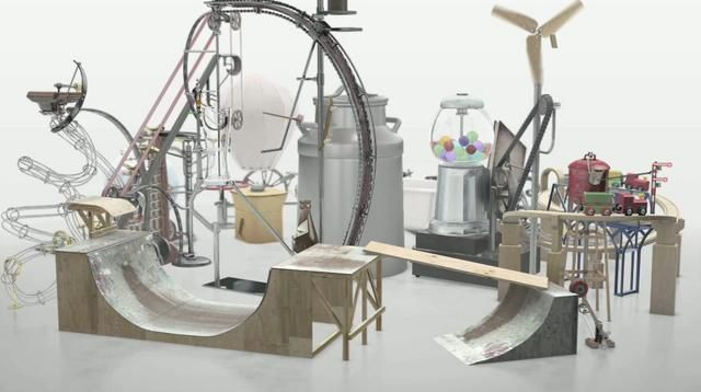 Rube Goldberg machine on Vimeo #rube-goldberg-machine #machine #installation