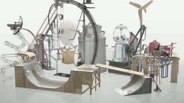 Rube Goldberg machine on Vimeo #rube-goldberg-machine #machine #installation