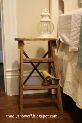 step ladder to side table: Crafts Rooms Offices, Spare Bedrooms, Improvements Blog, Homes Improvements, Inspiration Crafts, Diy'S Projects, Diy'S Decoration, Vintage Inspiration, Craft Rooms