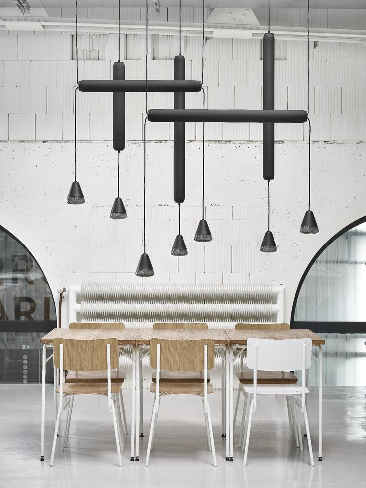 Brokis - lights - design - interior.  New collection Puro by Lucie Koldova as a part of cool interior of Eska restaurant! Do you like it?  interior - design by Tereza Froňková tables, benches - design by Tereza Froňková, Michal Froněk - produced by TON design, (metal parts) Uvax, | mmcité street furniture | Merano chairs - design by Alex Gufler - produced by Ton