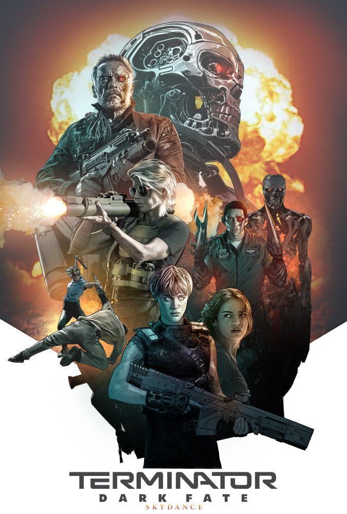 Terminator Dark Fate 01 Com Imagens Posteres De Filmes