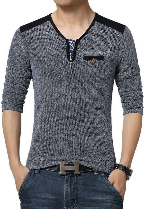 a9888857be8a Men High Quality V-Neck T-Shirts