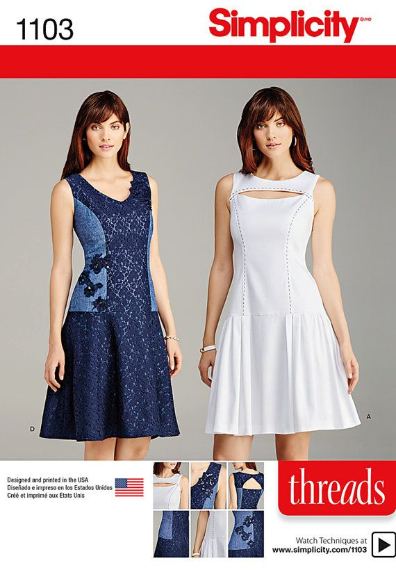 Simplicity 1103Misses petite Dress with Bodice and by ucanmakethis