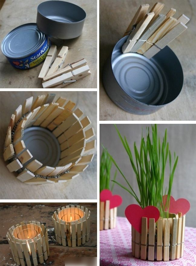 Diy Mother S Day Present Recycled Tin Can Candle Holder